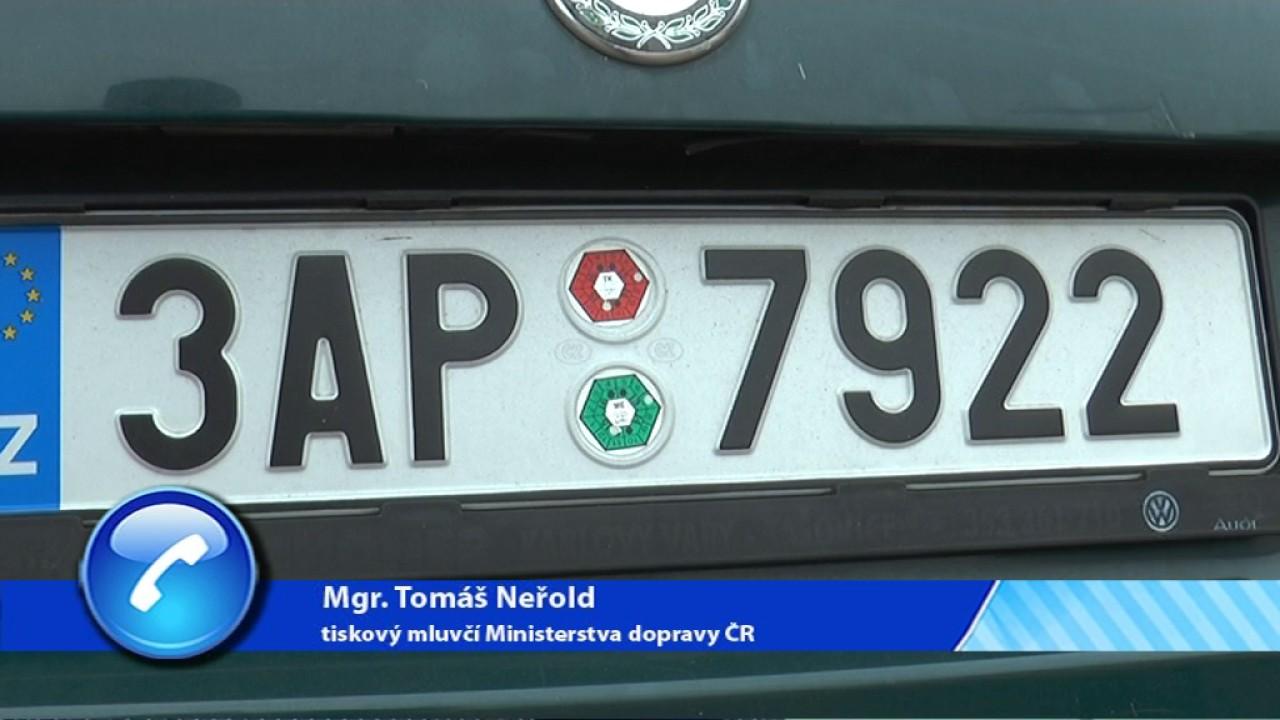 Změny v registru vozidel