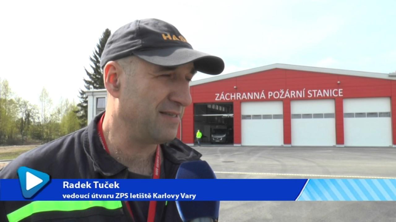 Nová hasičská zbrojnice na letišti v Karlových Varech