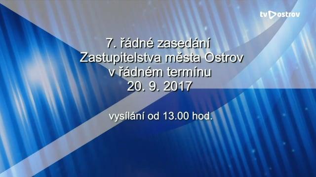 7. řádné zasedání Zastupitelstva města Ostrov 20.9.2017
