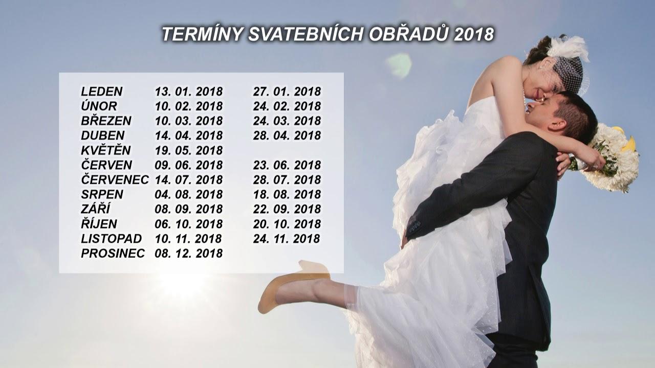 Svatební termíny pro rok 2018