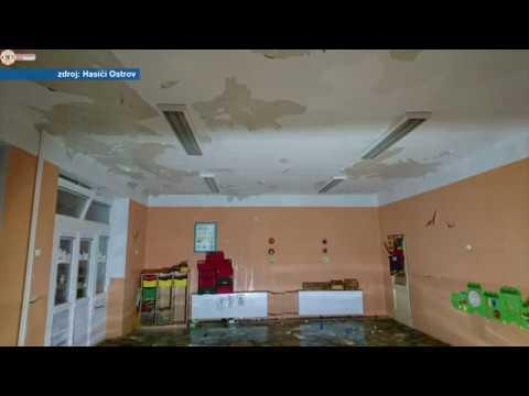 Odstraňování následků havárie v MŠ Halasova