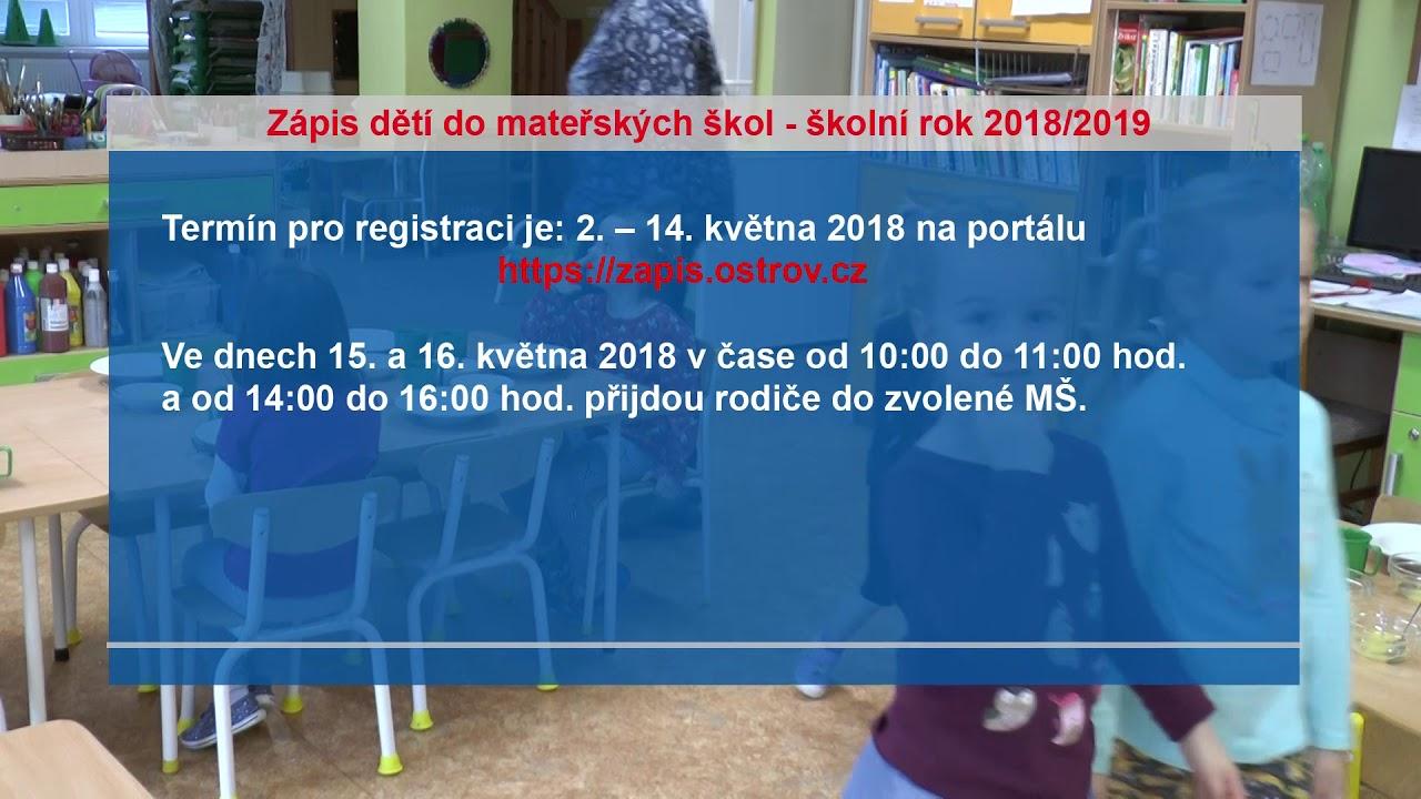 Zápis dětí do mateřských škol v Ostrově