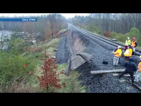 Poškozená trať Hájek – Dalovice