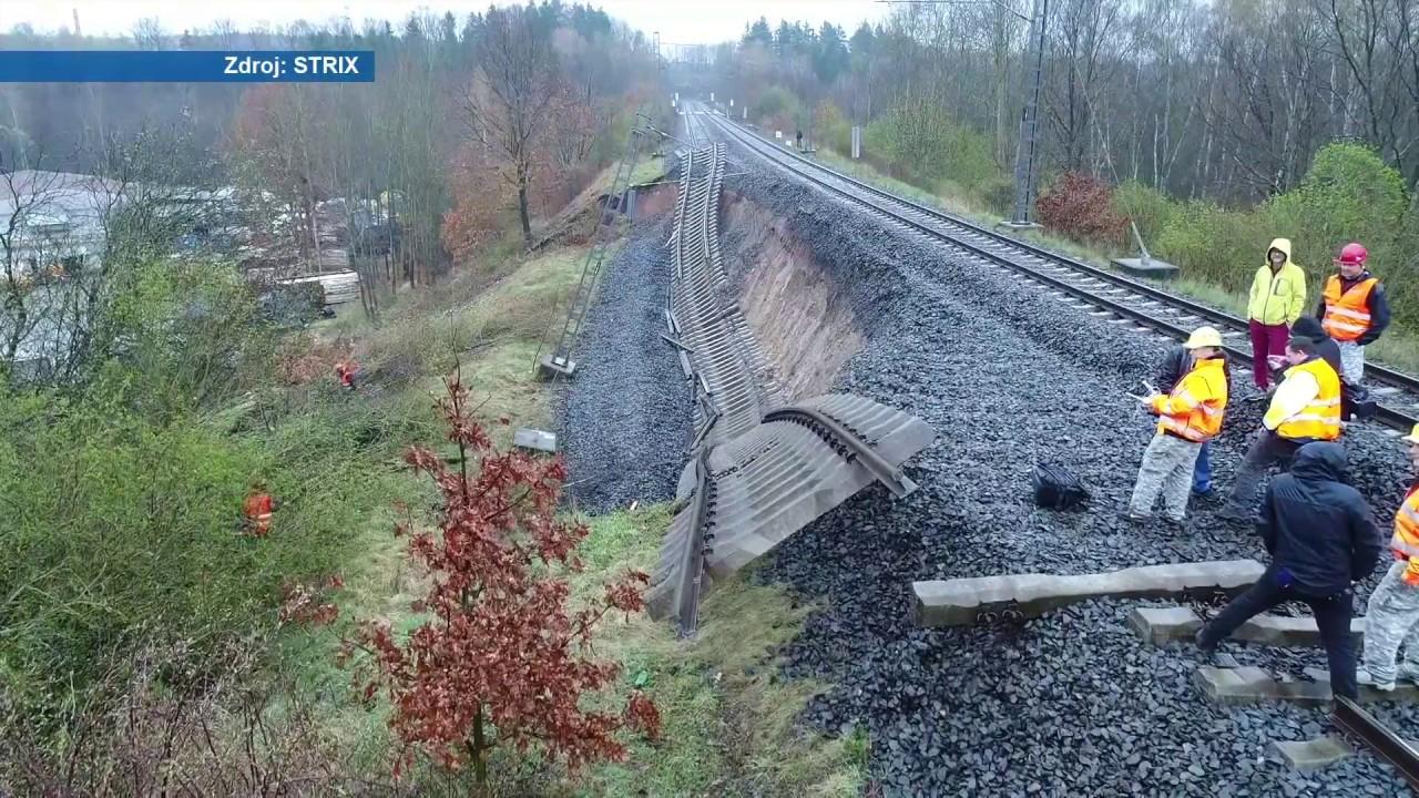 Poškozená trať Hájek